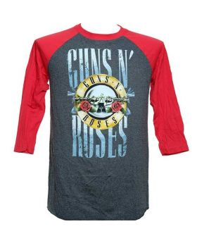 GUNS N ROSES - Stack Logo Raglan - Buzo