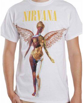 NIRVANA - In Utero Blanca - Camiseta - S