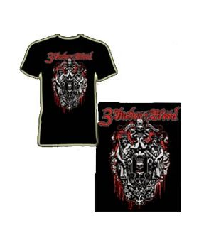 3 INCHES OF BLOOD - Logo - Camiseta-L
